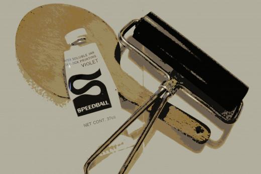 Speedball Woodblock Ink & Brayer