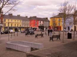 Listowel town square from where the castle is clearly visible