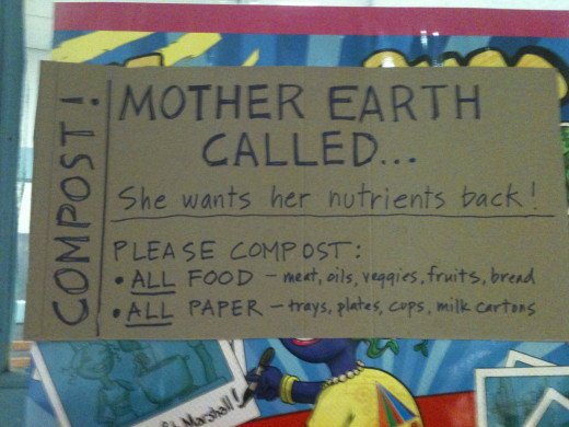 Post signs to inform students, teachers, parents, and staff about your new composting plan.