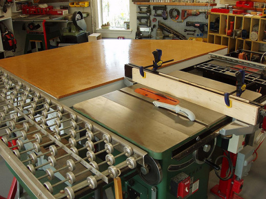 My dream tablesaw set up with a router attachment on the rightside.