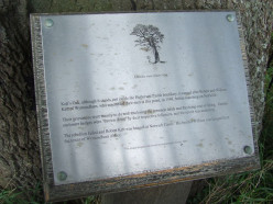Plaque at Kett's Oak