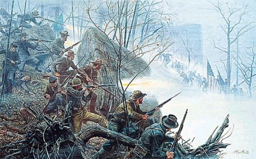 """Battle of Chattanooga"" Mort Kunstler"