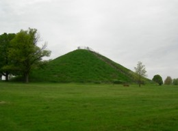 Adena engineers built the mound, ODNR added the stairs much later.
