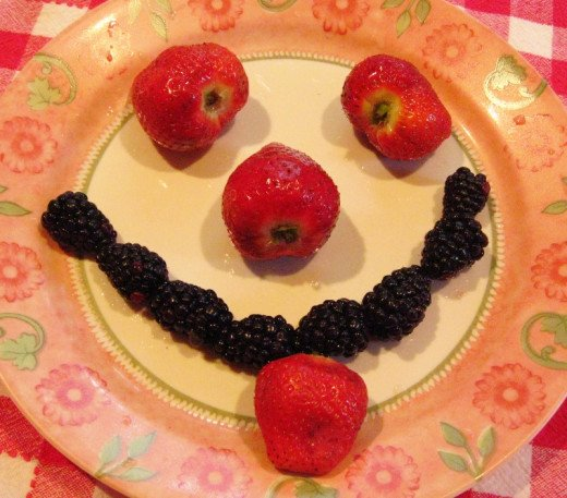 Food can be fun and put a smile on your face :)