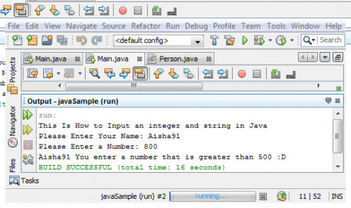 "Java Source Code ""Example3"" Output"