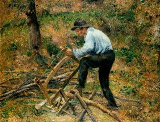 The Woodcutter by Camille Pissarro