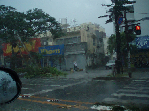 Photo's During a Typhoon