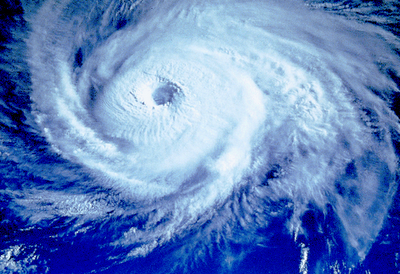 View of a Typhoon from satellite