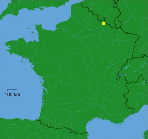 Map location of Charleville-Mézières, France