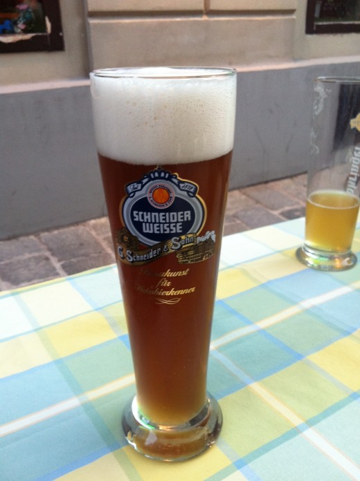 Schneider Weisse. This is a strong wheat beer, full of flavour!