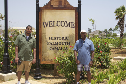 My nephew and me at Falmouth, Jamaica