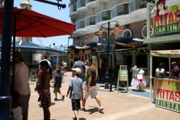Boardwalk on ship