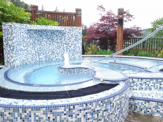 Exterior Mineral Pool offers spectacular views