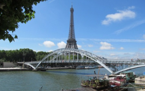 The Eiffel Tower is just opposite the Alma Tunnel where Diana's fatal accident happened.