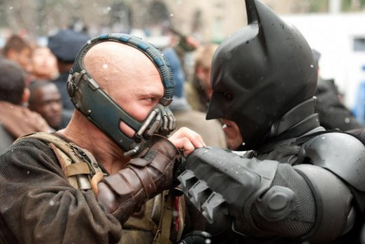 Batman and Bain face-off