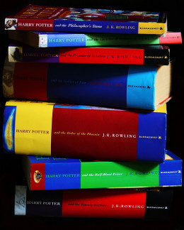 Stack of Harry Potter books