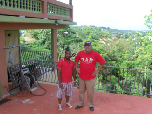 Me (The tall guy) with Jose in Puerto Rico!