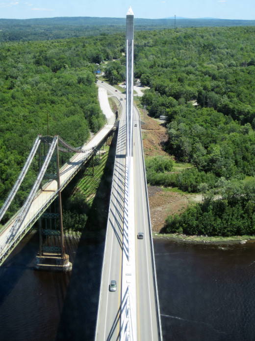View of the Penobscot Narrows Bridge from the Observatory