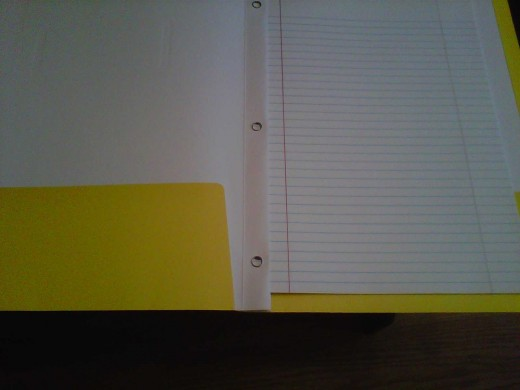 An inexpensive and easy way to make a notebook is to buy a pocket folder with three interior rings. Your child can place important papers in the pockets and take notes in the middle. This is great for breaking down units.