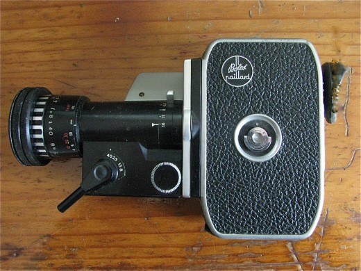 The Bolex Back and manual zoom lever...