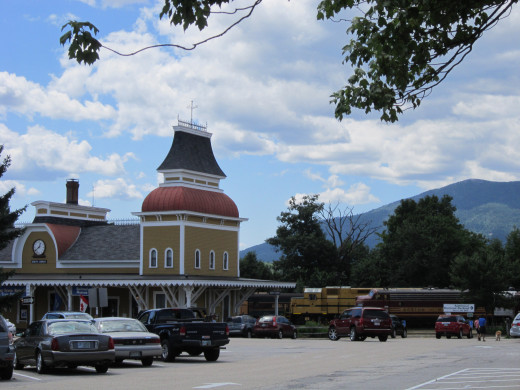 North Conway Scenic Railroad Parking Lot