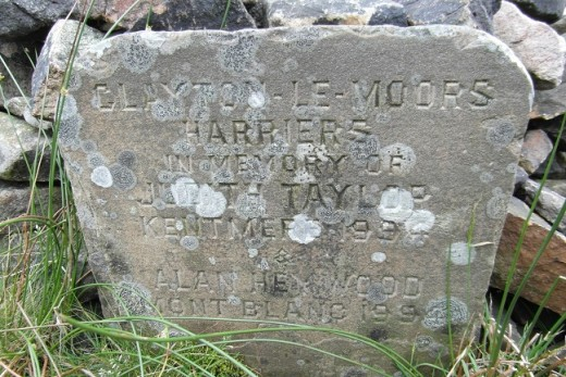 Clayton le Moors Harrier's cairn on Pendle (p6)