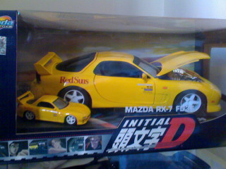 Official Initial D diecast merchandise. Notice the Initial D license in the packaging