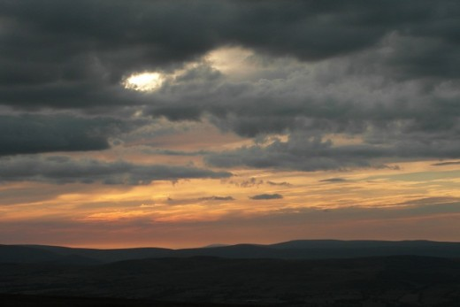 Sunset from the top of Pendle