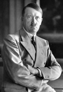 Adolph Hitler, Fuhrer of Nazi Germany.