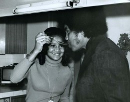 A young Latoya with her father Joe Jackson