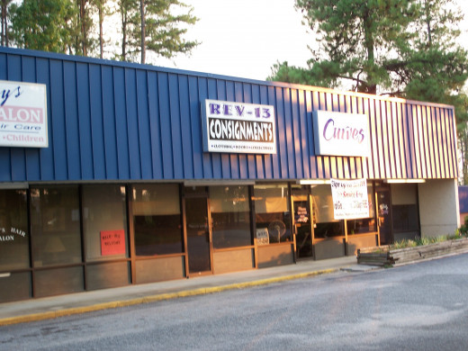 REV-13 Consignment Store- no longer in Business because could not get foot traffic, even though the location is great
