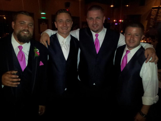 Manny has the white tie