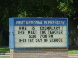 Look for information about the first day of school.