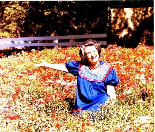 Lady Bird Johnson at the National Wildflower Research Center - photo taken from Wildflowers Across America
