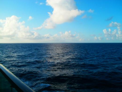 New day over the Atlantic Ocean.