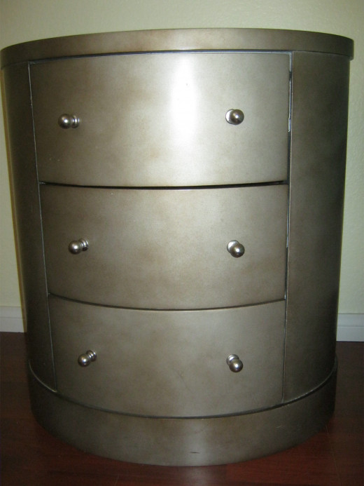 One of the two nightstands we picked up for just $30 each at hotelfurniture.com here in Las Vegas.