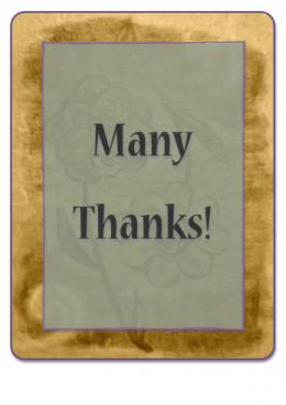 With Gratitude!