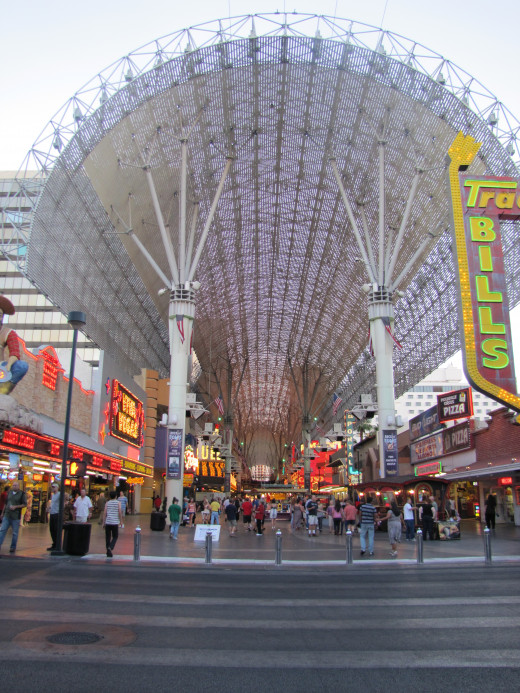 A photo i took at the entrance of Fremont st.