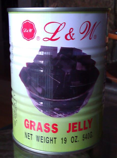 a can of grass jelly