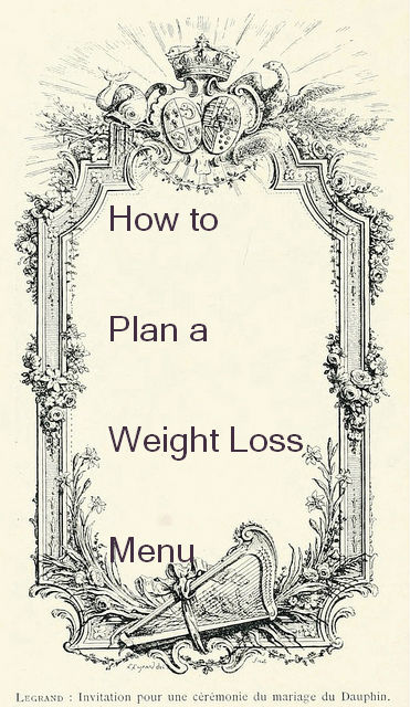 Planning a weight loss menu takes some math but it's worth the effort!