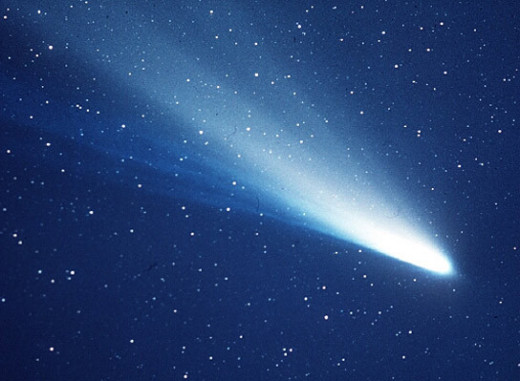Haley's Comet looked like this when it passed by earth again in 1986