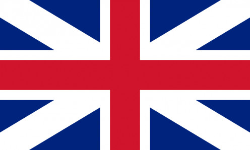 Flag of the 'Kingdom of Great Britain'. Used on their ships on the high seas, and was the official flag from 1707 to 1801