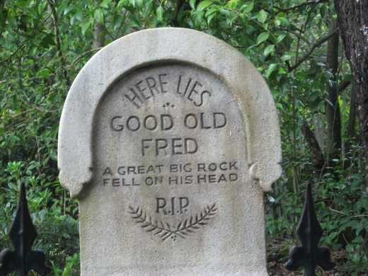 The Haunted Mansion headstone