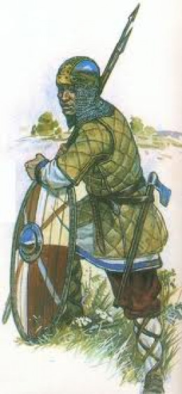 Rus warrior - they would find guarding  thralls (or slaves) fairly easy compared with fighting their eastern neighbours