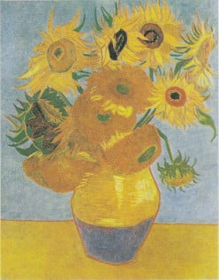 I love the blues inlcuded in this one from Van Gogh.