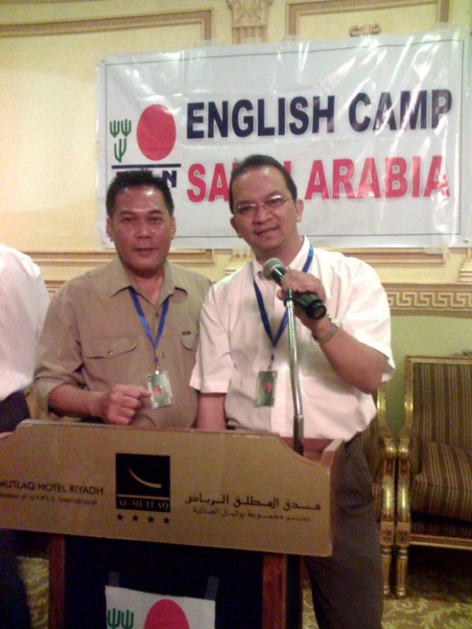 I am in Kaki attending an English Camp seminar at At-Mutlaq Hotel Riyadh, Saudi Arabia