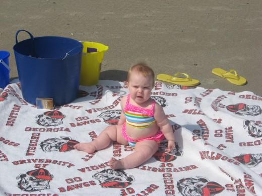 Brooklynn on the beach
