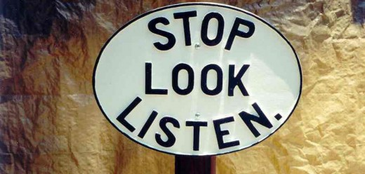 STOP for a moment to think, LOOK for some options and LISTEN to advices.