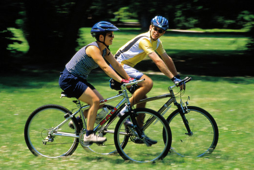 Cycling doesn't have to be a solitary exercise - why not cycle with a friend?