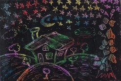 Scratch Art Activity for Kids - Fun with Oil Pastels and Craypas